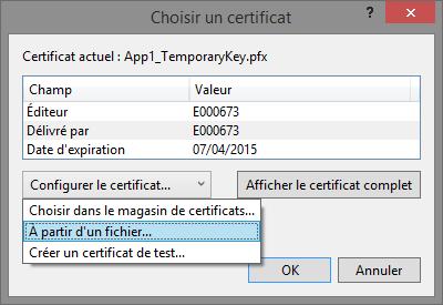 Choisir Certificat